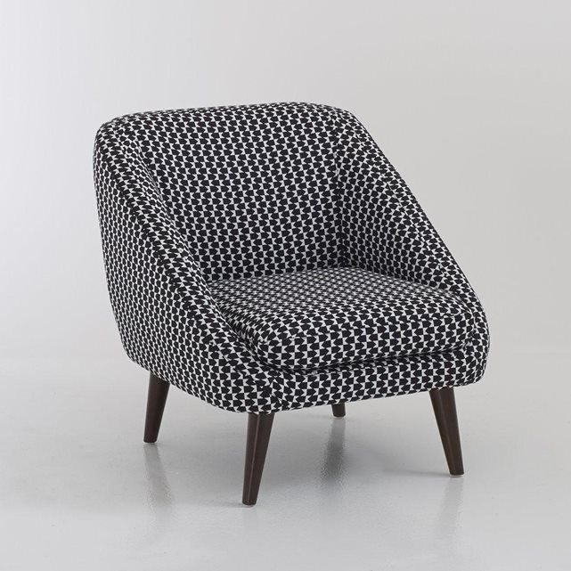 Fauteuil vintage, Semeon La Redoute Interieurs (Imprimé noir/blanc