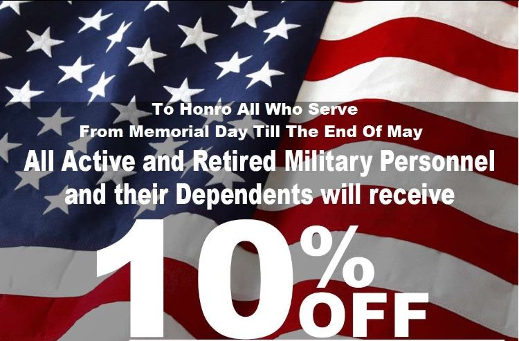 Our Thanks To You Memorial Day Retired Military Thankful