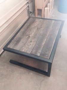 Modern Steel Barnwood Coffee Table Calgary Alberta Image 1 Ratones