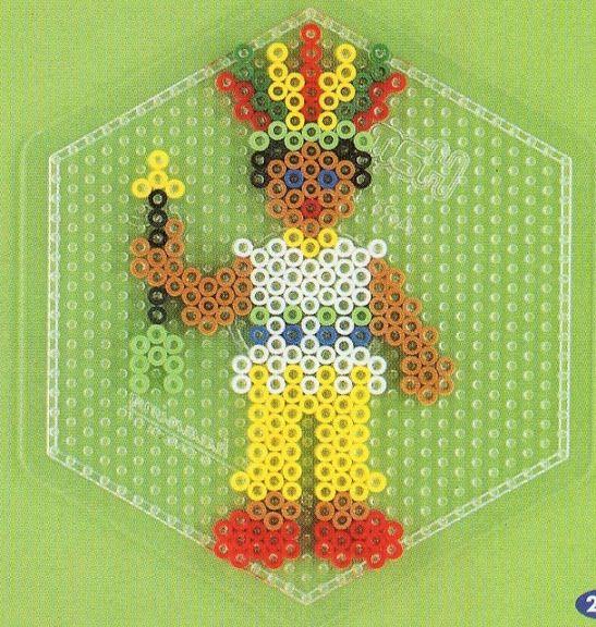 Indianer hama beads- DOMINELLE DECOUPAGE