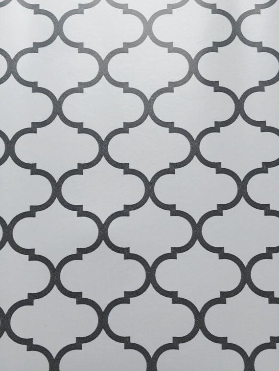 Contact Paper Trendy Gray Print Wallpaper Gray Grey White