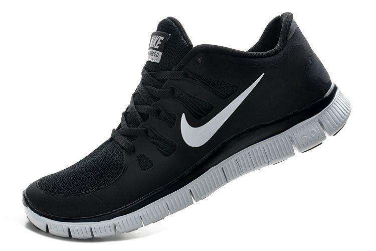 nike free run 5 womens black & white oxfords