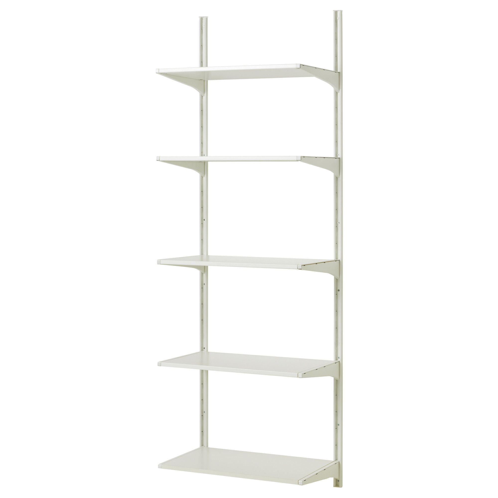 Algot Wall Upright Shelves White 25 5 8x15 3 4x77 1 8 Ikea