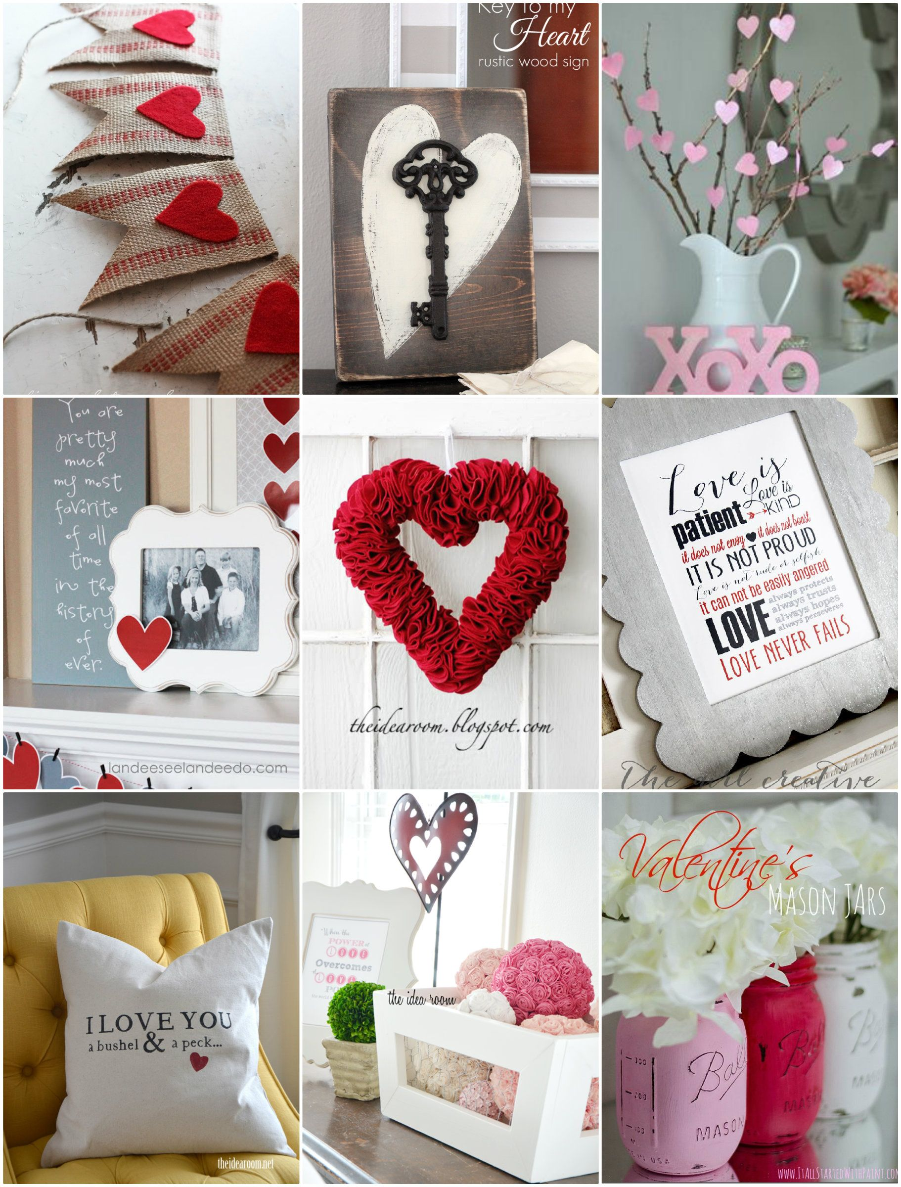 Valentine\'s Day Decor Ideas | Rounding, Holidays and Crafts