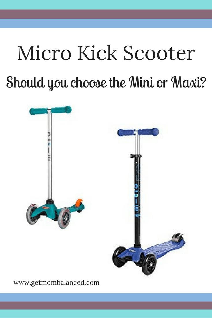 Micro Scooter Comparison Maxi Vs Mini Micro Scooter Micro