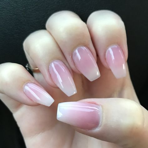 Coffin Ombre Acrylic Powder Nails Charlie S Luxury Nails Acrylic Nail Designs Best Acrylic Nails