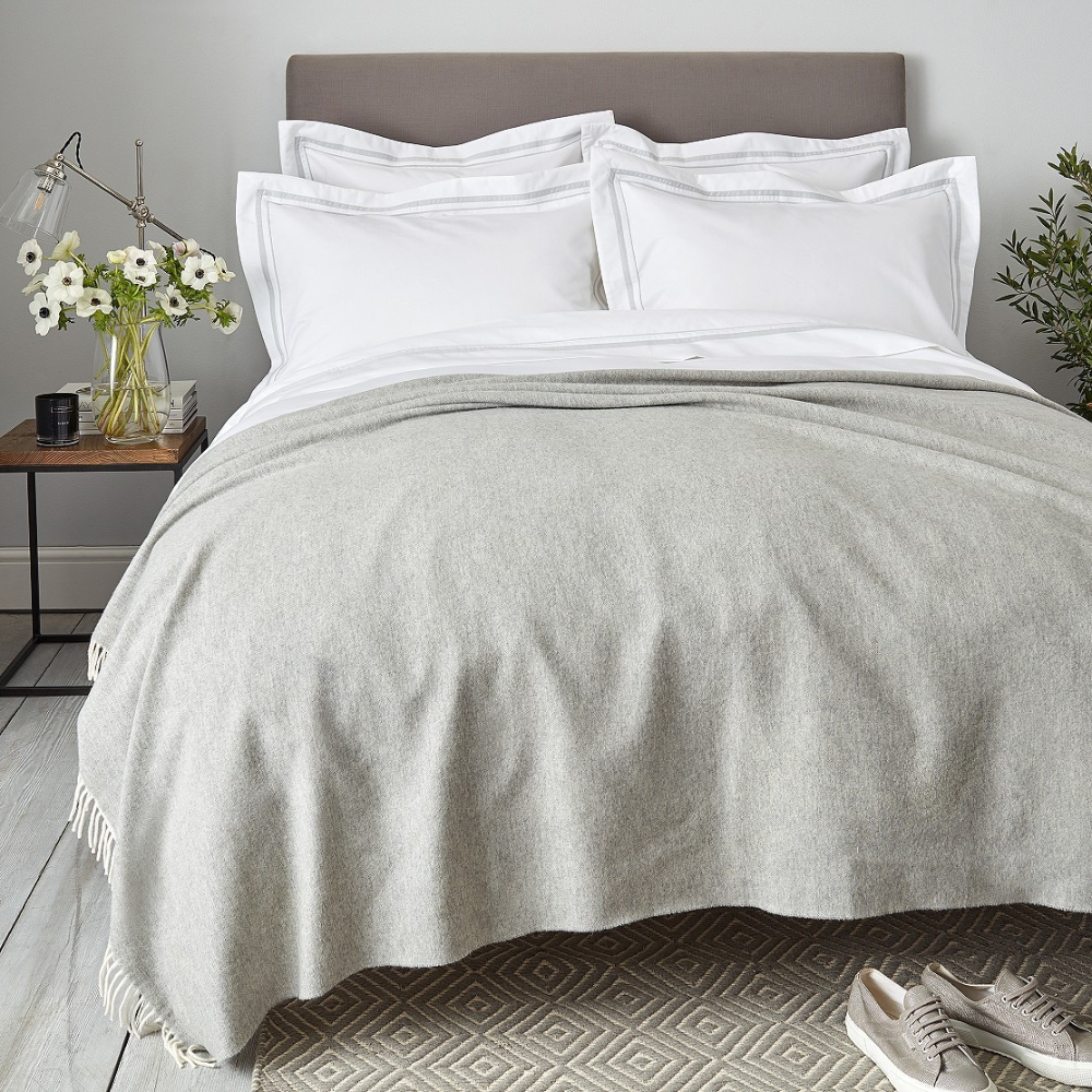 Luxury WoolCashmere Throw Cushions, Bedspreads & Throws