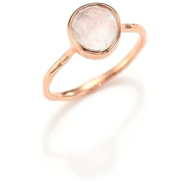 8be583948 Monica Vinader Rose Quartz Siren Ring ($135) ❤ liked on Polyvore featuring  jewelry,