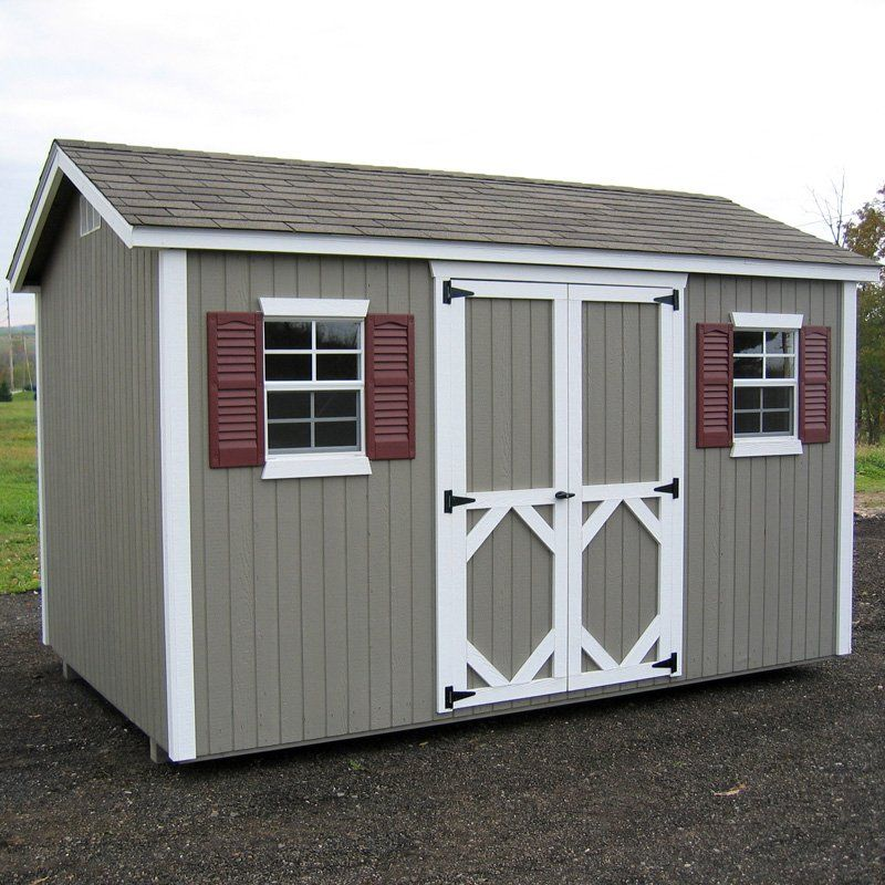 Little Cottage 16 X 12 Ft Classic Wood Workshop Panelized Garden Shed Storage Sheds At Hayneedle Building A Shed Shed Plans 12x8 Shed