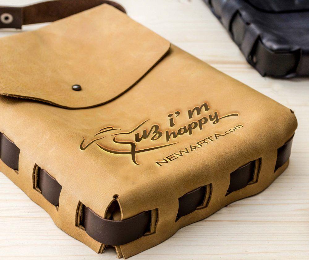 Download Because I M Happy Free Bag Mockup Newarta Bag Mockup Upcycled Leather Free Bag
