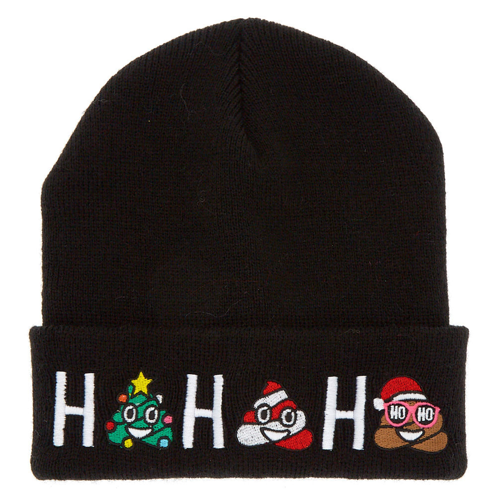 fb1f2ad67ca Ho Ho Ho Poo Beanie - Black