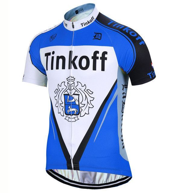 Tinkoff Pro Bicycle Wear Cycling 100% Lycra Quick Dry Tops ... 121f4910b