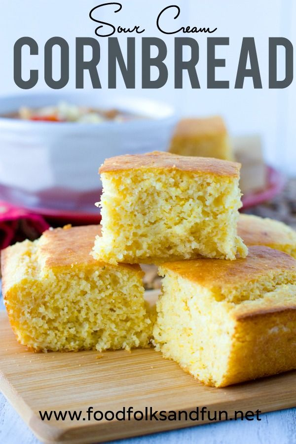 Sour Cream Cornbread Food Folks And Fun Sour Cream Cornbread Corn Bread Recipe Sweet Cornbread