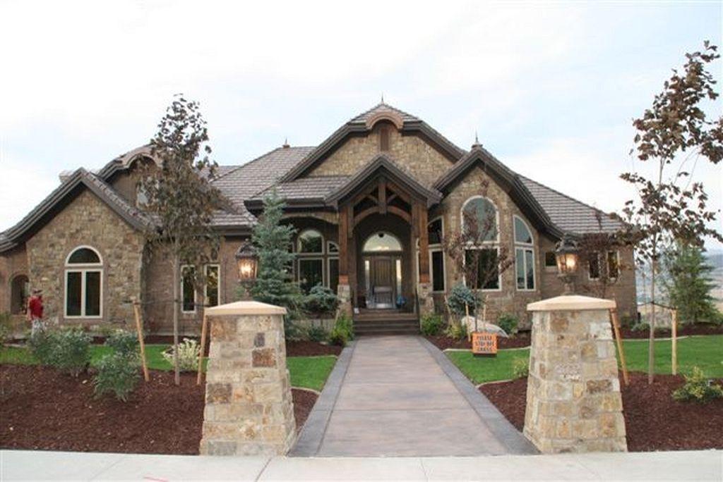 Awesome Stone And Brick Exterior Home Design 23 House Exterior Exterior Brick Stone Houses
