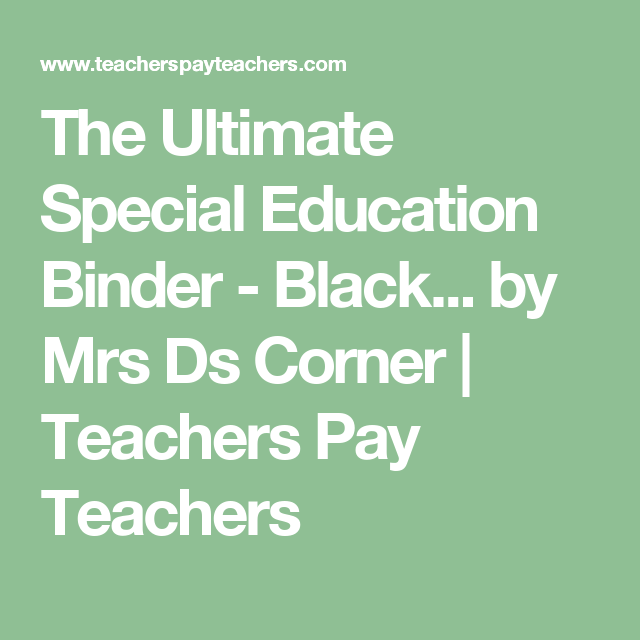 The Ultimate Special Education Binder