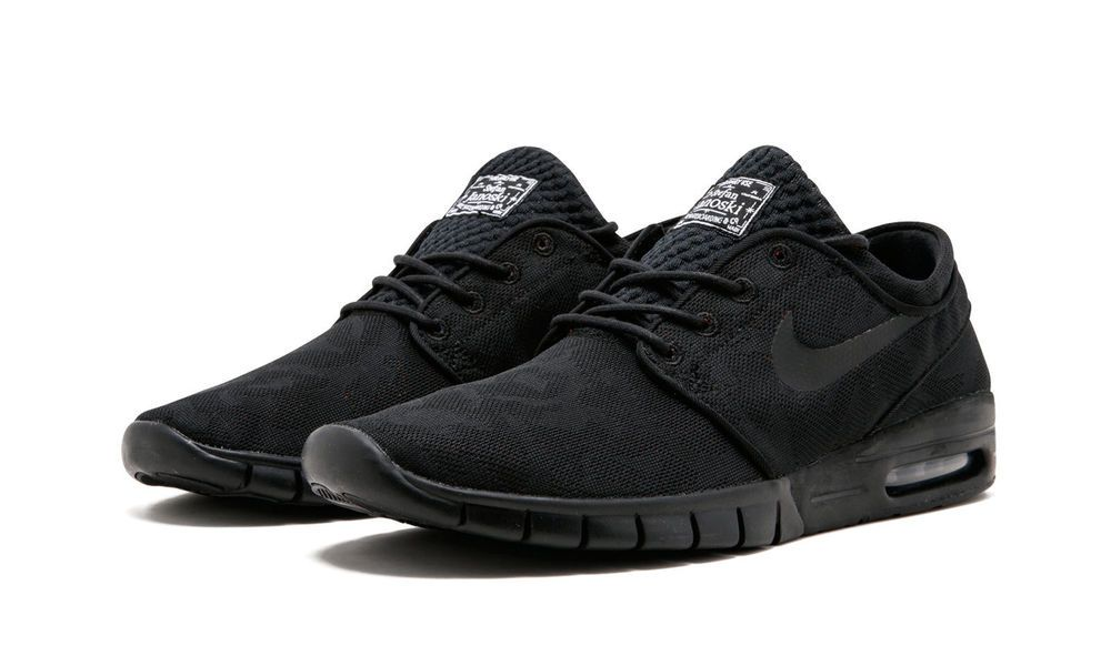 Nike SB Stefan Janoski Air Max PRM Skate Shoes Mens 11.5 Black Photo Blue   Nike  SkateShoes d0677e524