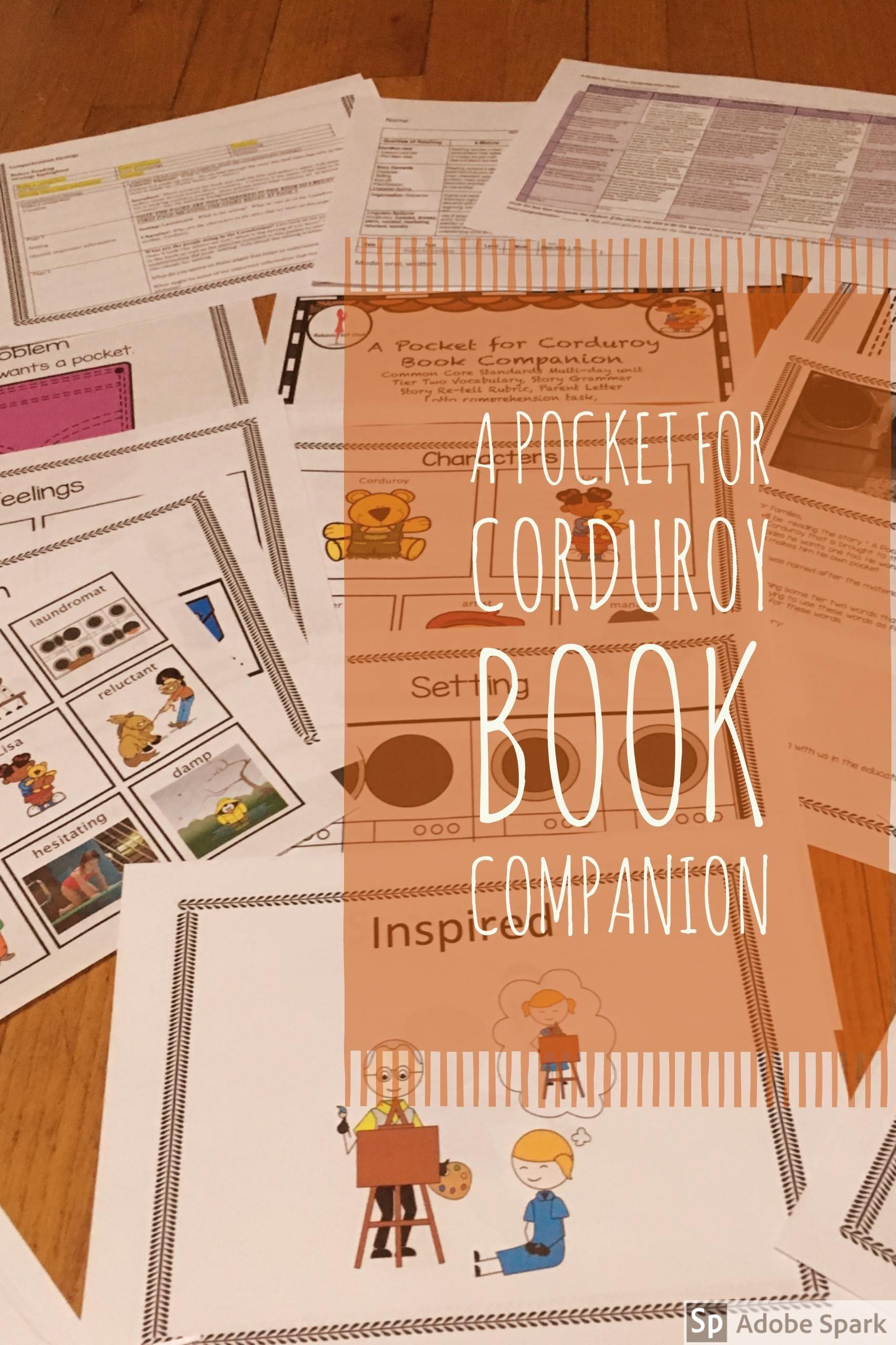A Pocket For Corduroy Book Companion Tier Two Vocabulary