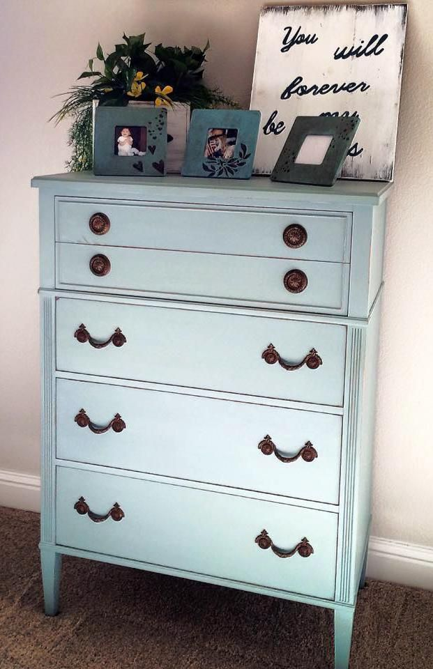 General Finishes Persian Blue Milk Paint Dresser General