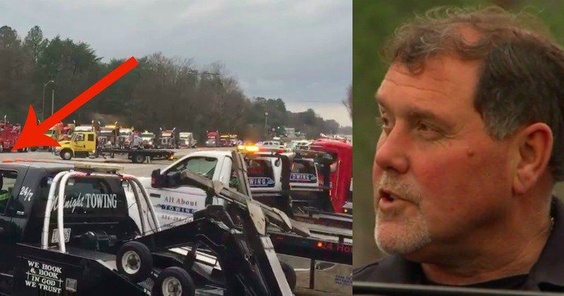 Drivers Shocked At What Huge Convoy Of Tow Trucks Was Hiding In Plain Sight