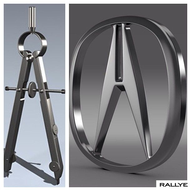 The #acura Logo Was Derived From An Engineering Tool Known