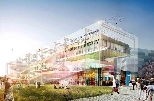 Helsinki Central Library Competition Entry / STL Architects,Courtesy of STL Architects