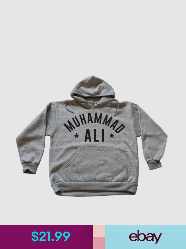 Muhammad Ali Hoodie Cassius Clay Crewneck The Greatest Boxing Legend Multi Color