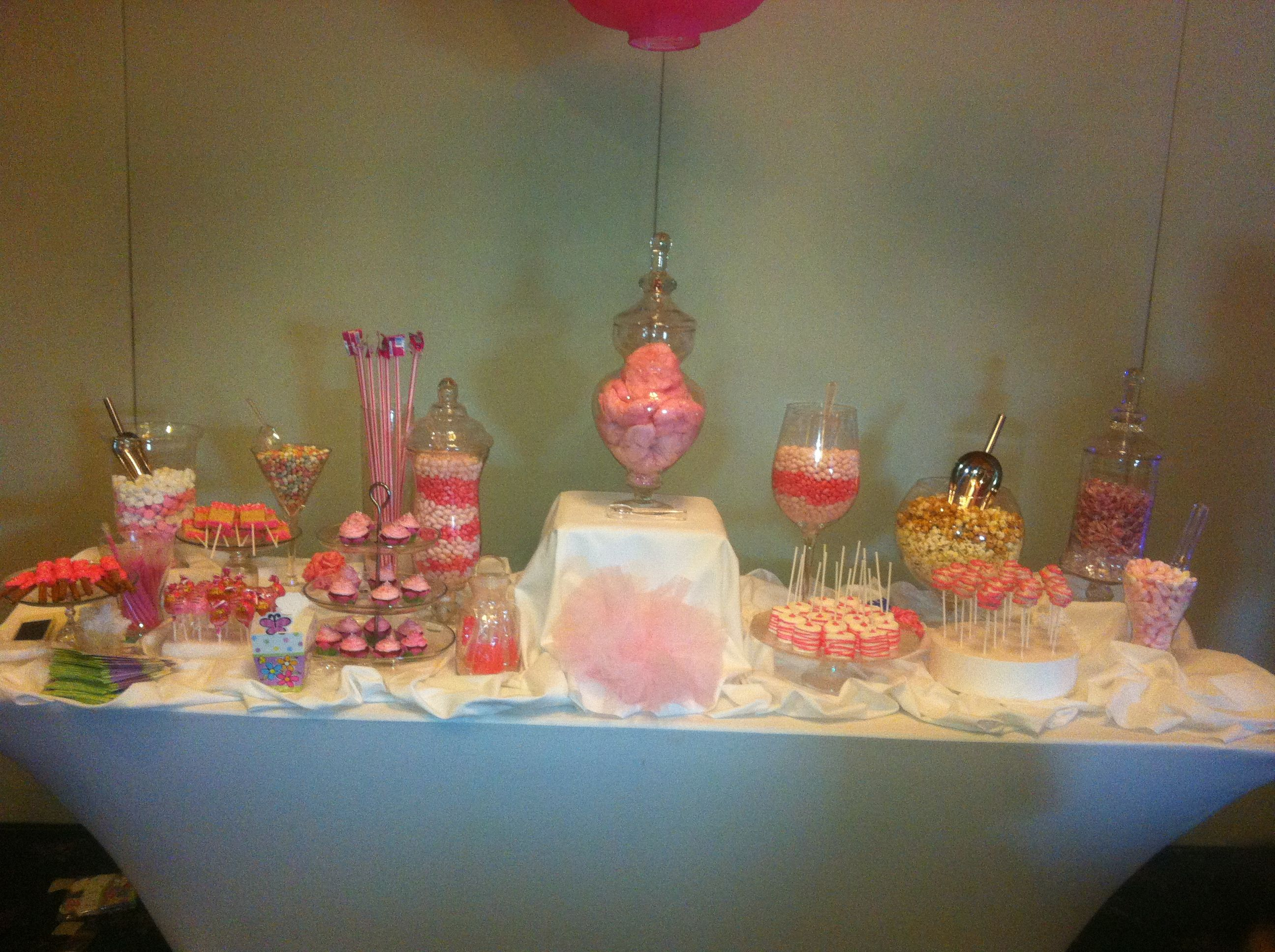 Candy station at khaylin's christening