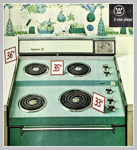 1964 turquoise stove The Age of Steel Vintage