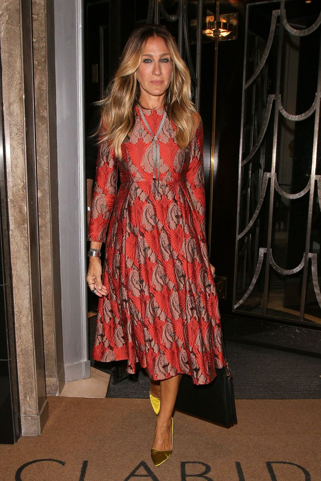 Sarah Jessica Parker wearing Emilia Wickstead in London