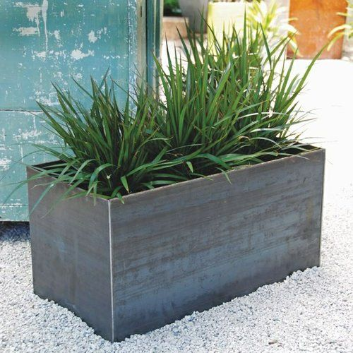 Custom Steel Planters by Sarabi Studio