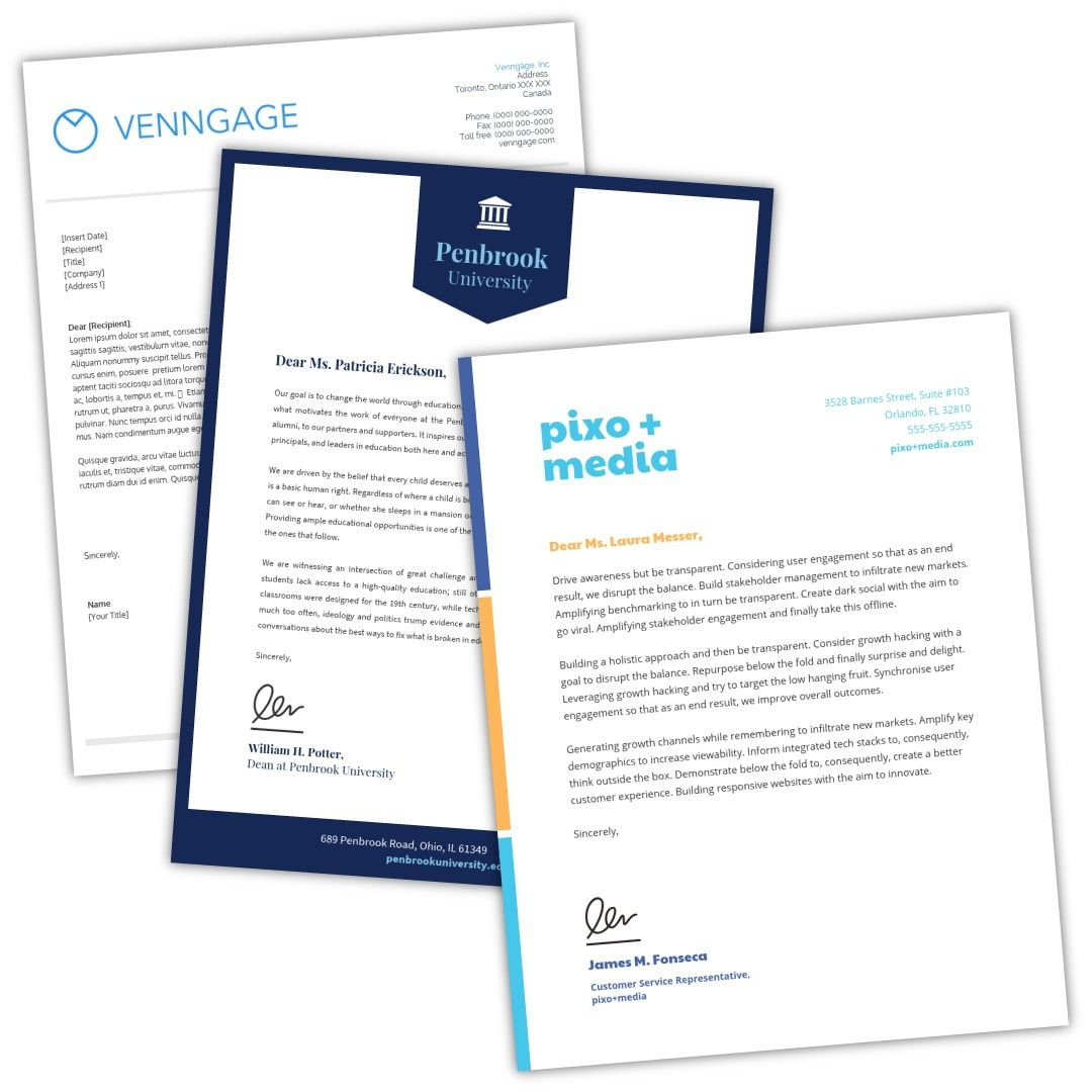 Free Online Letterhead Maker Professional Templates