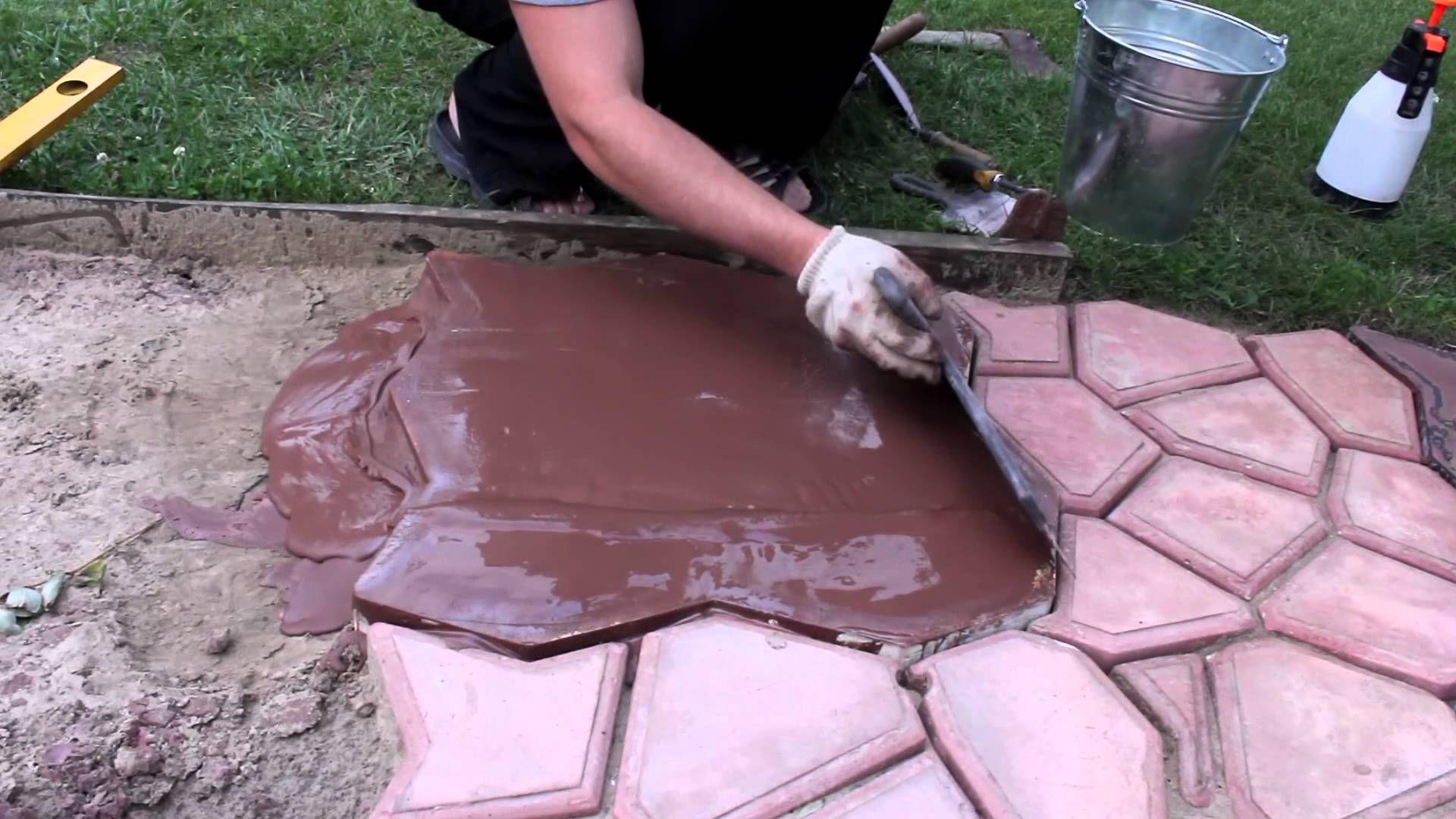 формы для заливки бетонных дорожек