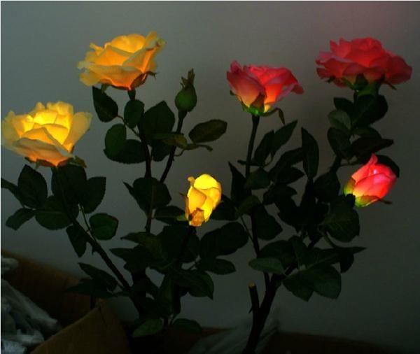 Finding best online new gift rose flower solar led light lamp, solar  powered garden outdoor