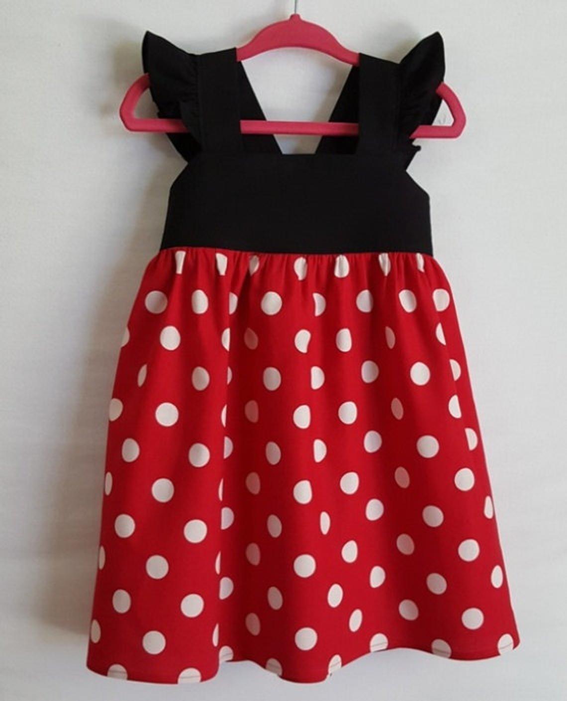 Minnie Mickey Maus Halloween Cosplay Baby Kinder Mädchen Kleid Kostüm Partykleid