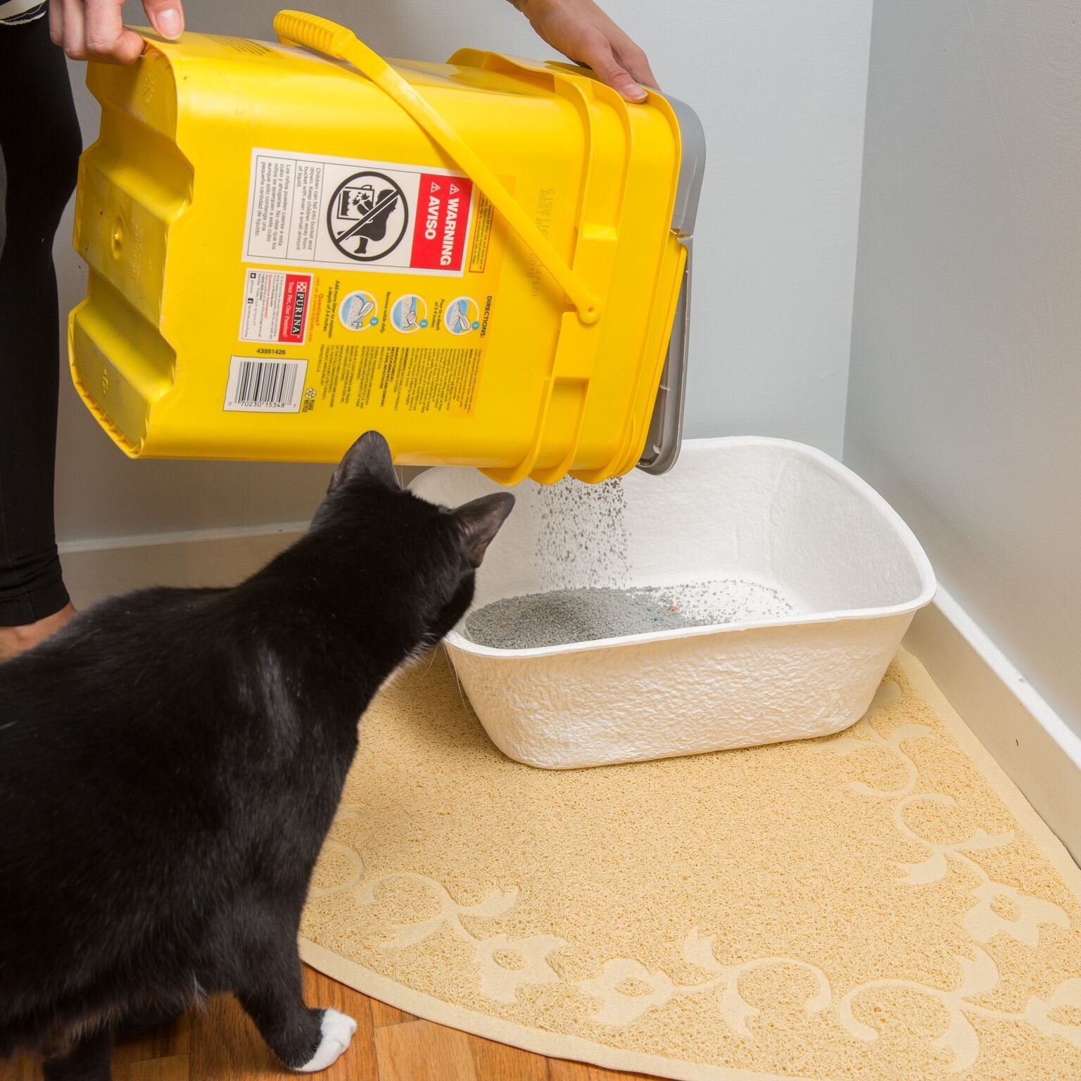 Large Corner Litter Mat 23 X 23 Cat Litter Mat Traps Messes Easy