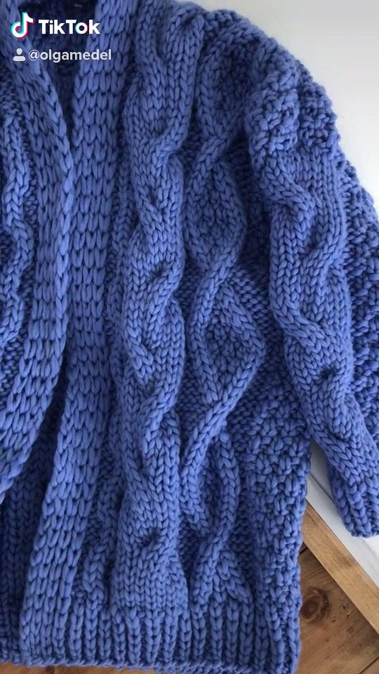 Photo of Knitted cardigan 💙💙💙