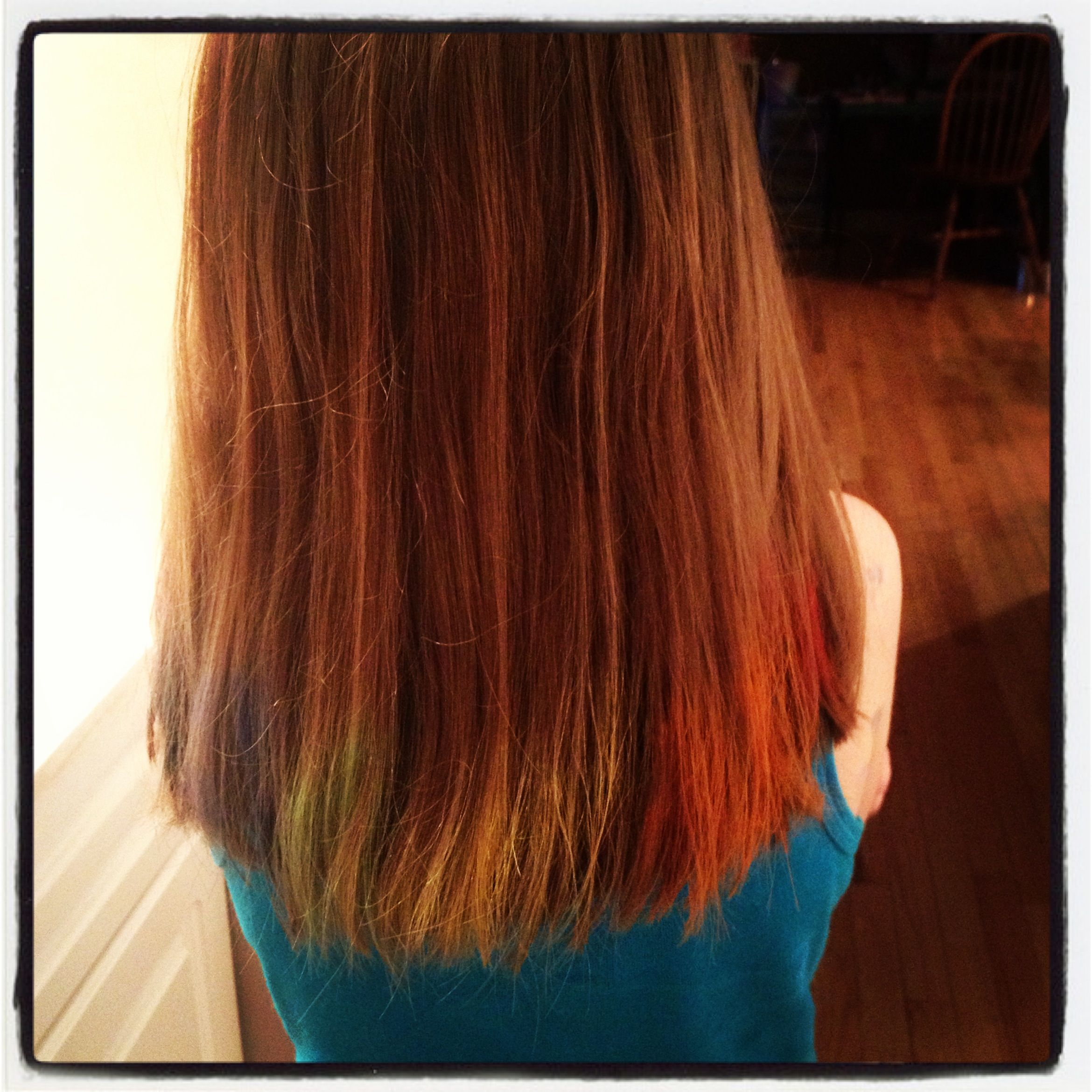 Simply Wet Hair, Apply Colour Using Pastel Chalk, Dry With