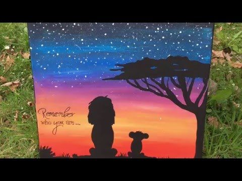 Time Lapse Drawing | Disney's The Lion King | Acryl on Canvas