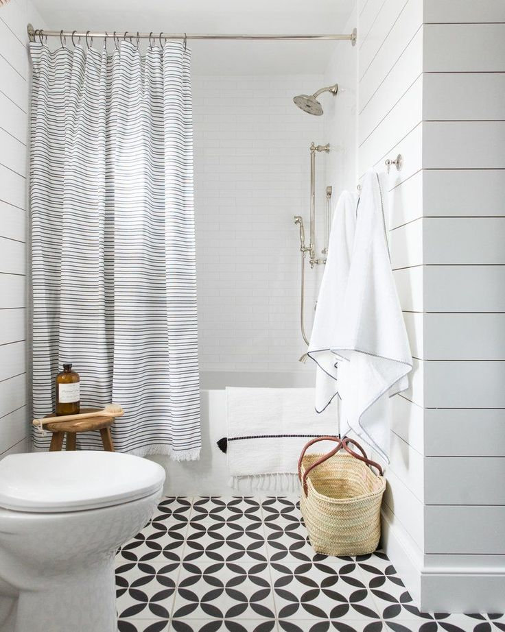 Contemporary black and white stripes give the westport
