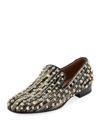 d52f8a4b9162 Men  s Rollerboy Spiked Velvet Loafer by Christian Louboutin at Bergdorf  Goodman.