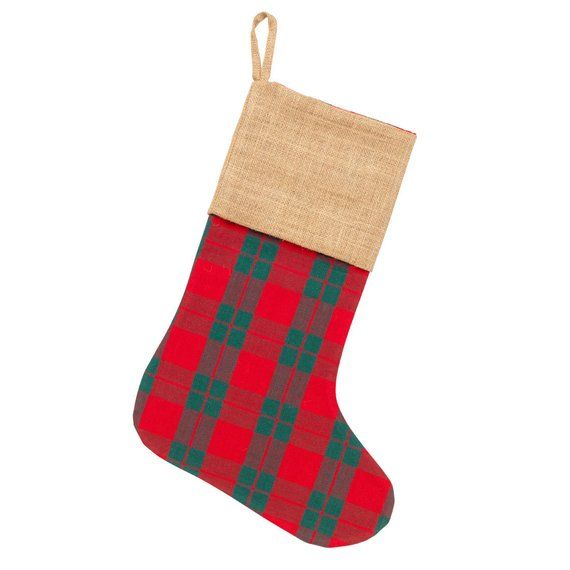 Plaid Christmas Stocking, Personalized Christmas Stockings