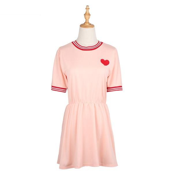 08d41d7a20f Embroidered Heart Dress (2 Colors)