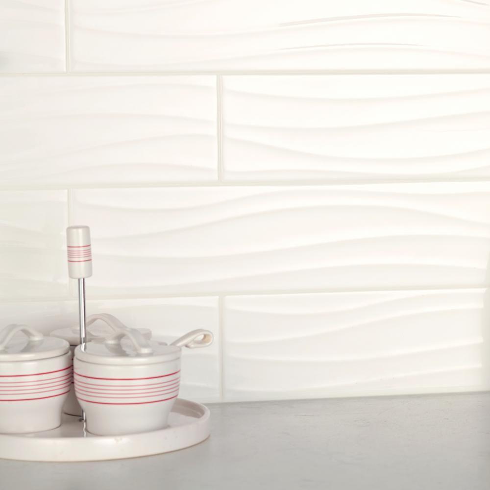 ceramic wavy wall tile