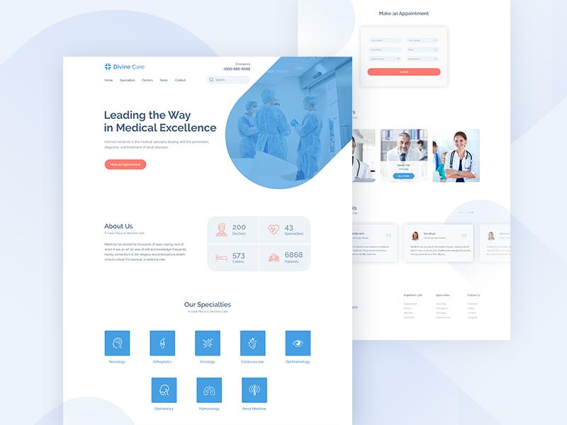 Divine Care Medical Website Medical Website Design Healthcare Website Medical Design