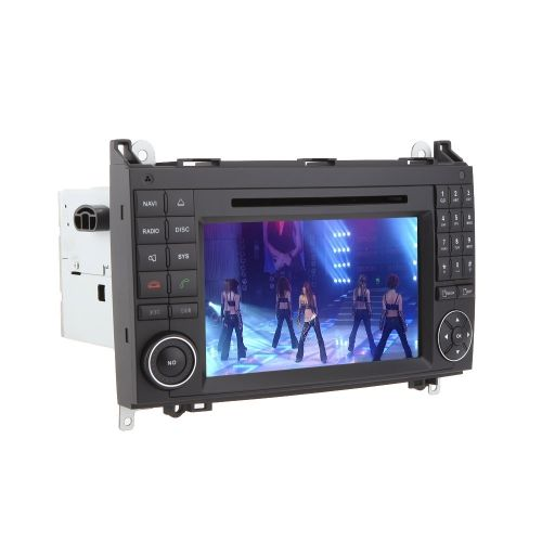 7 Car Radio Double 2 Din Car DVD Player GPS Navigation in Dash Car PC Stereo Head Unit for Mercedes-Benz A B Class Viano Vito Sprinter +Free Map +Free Card