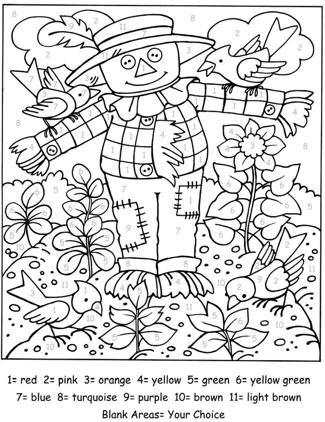 to Dover Publications Fall coloring pages, Adult