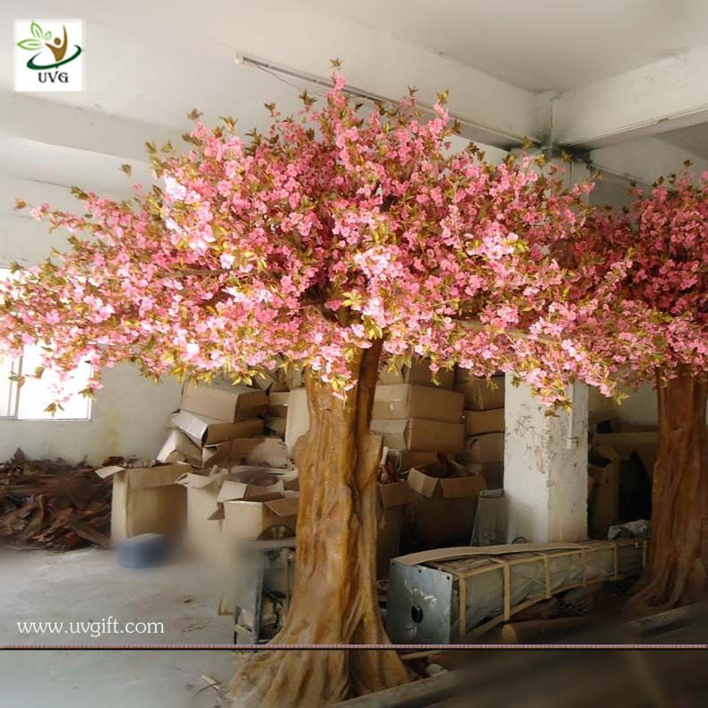 Uvg Chr013 Artificial Tree With Flower Big Pink Sakura Trees For Home Garden Decoration Artificial Tree Sakura Tree Garden Decor