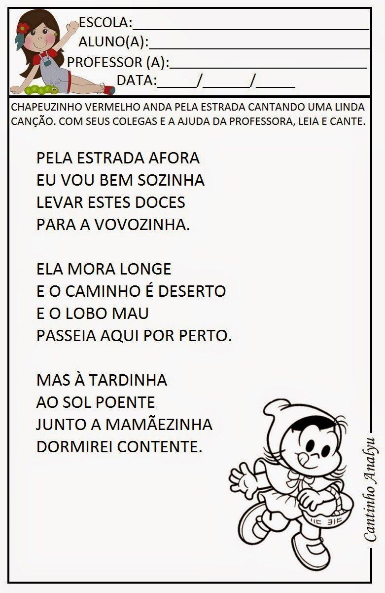 Pin De Sonia Kad Em Cantigas De Roda Parlendas Educacao Infantil