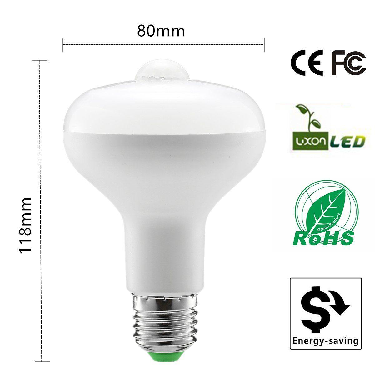 Kingso Motion Light Bulbe27 9w Pir Infrared Motion Sensor Detection Light Pir Bulb Lamp Auto Switch Sta Energy Saving Lighting Stairs Night Light Motion Lights