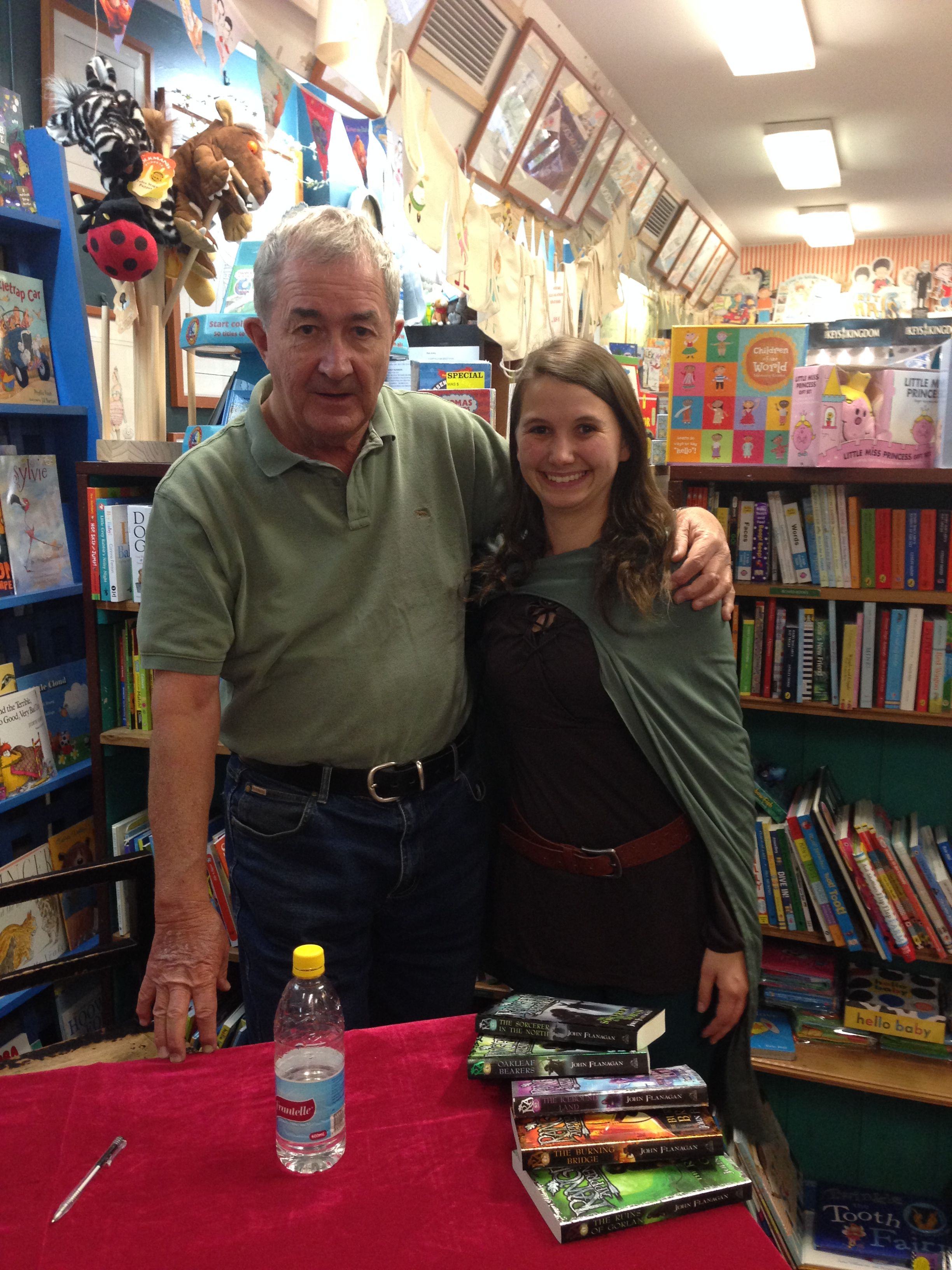 John Flanagan the author of Rangers' Apprentice